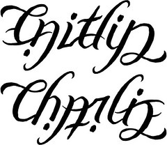 """Caitlin"" & ""Charlie"" Ambigram"
