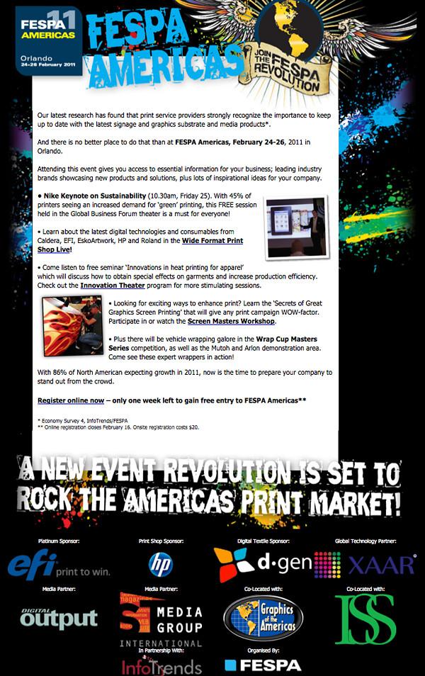 Fespa Americas email