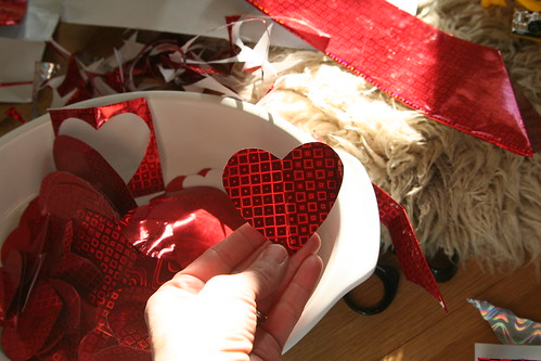 Valentines from Repurposed Gift Bag