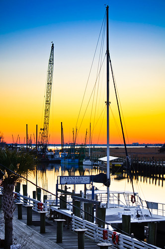 Shem Creek Sunset