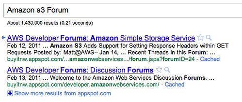 Scraped Results in Google