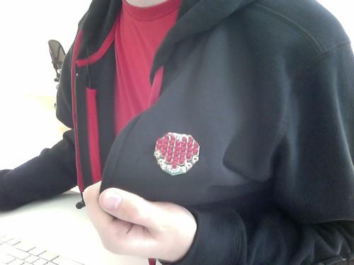 LED heart badge