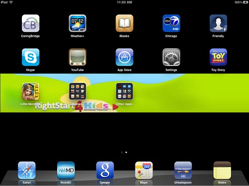 iPad RMHC_0002 Screenshot (a few starter apps)