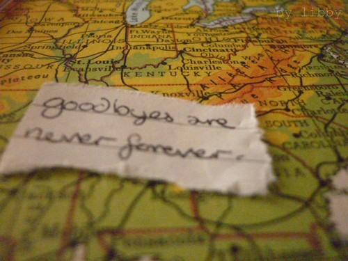 goodbyes are never forever