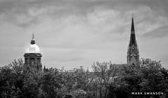 Notre Dame (mswan777) Tags: basilica dome golden university notre dame monochrome travel black white sky cloud tree outdoor nikon d5100 sigma 70300mm bright sun reflection