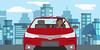 Toyota: O Distraído - cena 02 (Works by Issao Bazolli) Tags: digital vetor vector toyota pinturaexpressa illustration ilustração art desenho characters