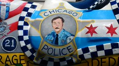 Memorial for the Late Officer Daniel Howard #5 (artistmac) Tags: chicago il illinois city urban street canaryville southside memorial horse artwork art officerdanielhoward danielhoward posthumous police 9thdistrict 9thdistrictpolice unveiling ribboncutting