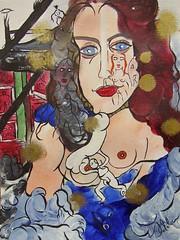 QUAND TU TROUVES ENFIN UN SENS À TA VIE (Claude Bolduc) Tags: outsiderart teen anorexia artsingulier artbrut visionaryart intuitiveart lowbrow selftaughartist autodidacte painting horsnorme surrealism sexyart