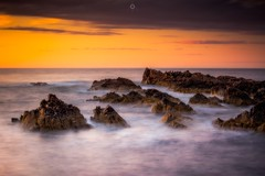 Peaks in a Sea of Clouds (Augmented Reality Images (Getty Contributor)) Tags: canon clouds colours dusk landscape leefilters littlestopper longexposure morayfirth portknockie rocks scotland sunset water waves