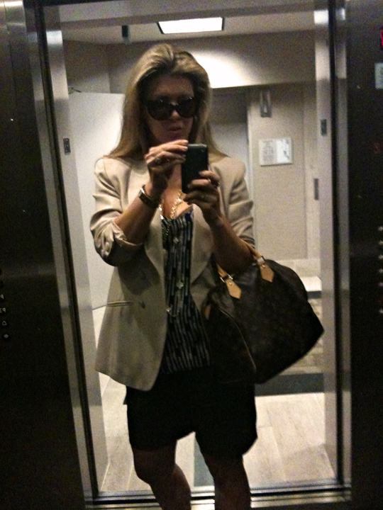 outfit-in the elevator-dark