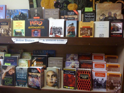 Witch Trials Book Display in Salem, MA