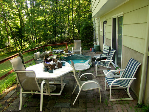 Messy back patio