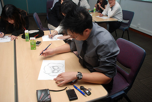 Caricature Workshop for AIA Alexandra - Day 1 - 18