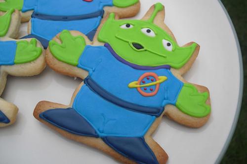 Alien iced sugar cookies