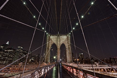 Spider-Man's Web: Brooklyn Bridge - New York City (DiGitALGoLD) Tags: new york city nyc bridge man brooklyn night digital gold spider nikon long exposure shot suspension web tripod spiderman f28 gitzo d3 1424mm digitalgold