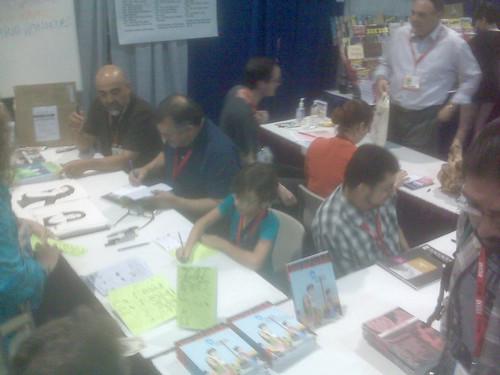 Mario, Gilbert, Natalia & Jaime Hernandez - Fantagraphics at Comic-Con 2010