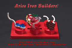Arise Iron Builders! (V&A Steamworks) Tags: iron lego lounge chef va builders steamworks builder moc
