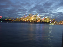 Sydney lights from Manly ferry
