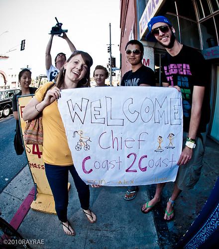 Shayne Carlson Arrives in Venice Beach