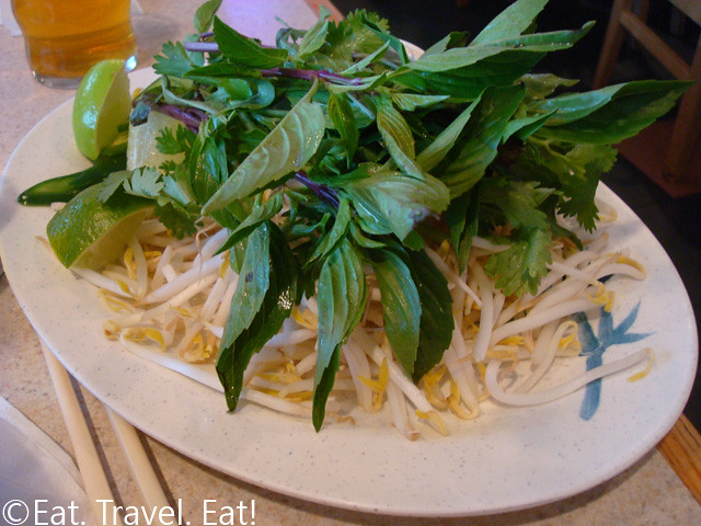 Basil and Bean Sprouts