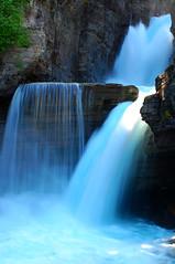 St. Mary's Falls (WilliamMarlow) Tags: waterfall nationalpark nikon montana mt glacier cc creativecommons glaciers glaciernationalpark 1855 stmary goingtothesunroad d40 cateract nikond40 glacialmilk
