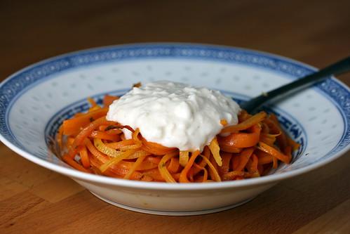 Carrot tagliatelle 3