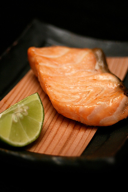 Grilled salmon fillet - very tender