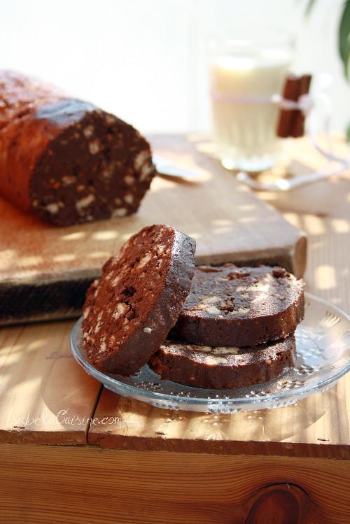 Articole culinare : Salam de biscuiti si ciocolata