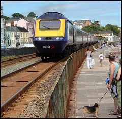 43185 Dawlish (Thrash Merchant) Tags: railroad train canon seaside diesel rail trains seawall devon railways firstgreatwestern mtu hst dawlish highspeedtrain class43 intercity125 firstgroup ic125 fgw eos450d 43185 powercar crosscountrytrains firsttrains dawlishseawall firstgreatwesternhst fgwhst