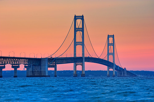Mackinac Bridge, Mackinaw City, Mackinac Island - Click photo for **LARGE VIEW ON BLACK**