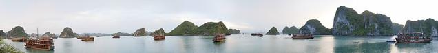 清晨的下龍灣