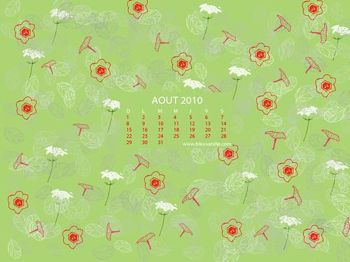 Calendrier Août 2010 pour fond d'écran, Fleurs sauvages