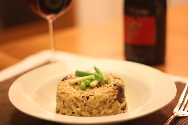 Risotto and Nebbiolo as an Italian dinner