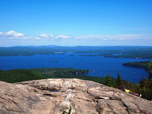 Lake Winnipesaukee from summit of Mt. Major, NH - a photo on ...