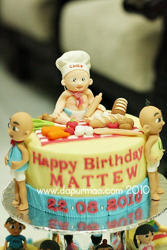 Upin Ipin & Baby Birthday Cake