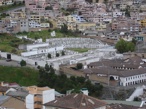 Quito - Graveyard on the Hillside of Pichincha, Next to El Placer, as Seen from the Yaku Museo del Agua