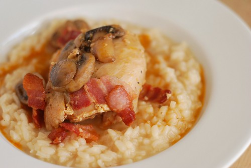 Braised Chicken Thighs with Mushrooms & Bacon - Fake Ginger