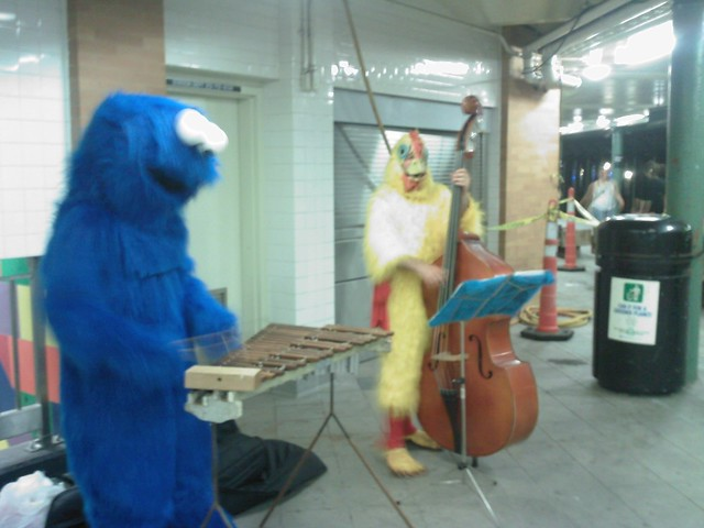 cookie monster & birdman jam session