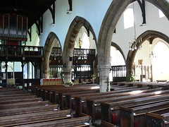 St Mary - Higham Ferrers church interior early English arches