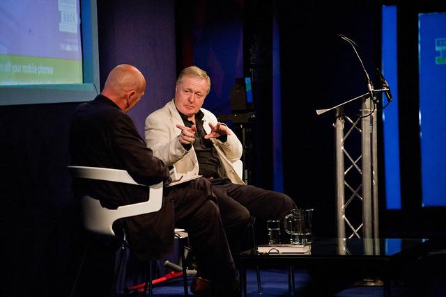 Ian Blair talking to Peter Guttridge