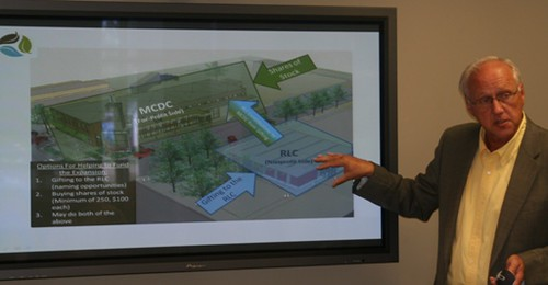 Randy Parry, Rural Learning Center president, discusses financing for the project.