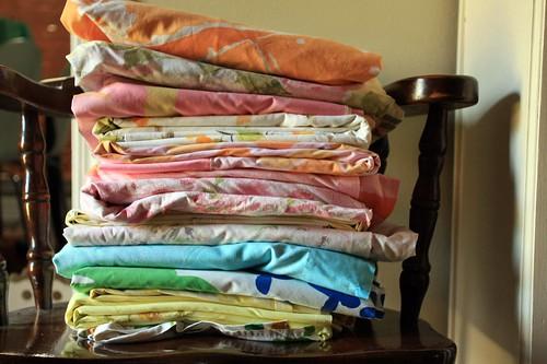 big stack of sheets