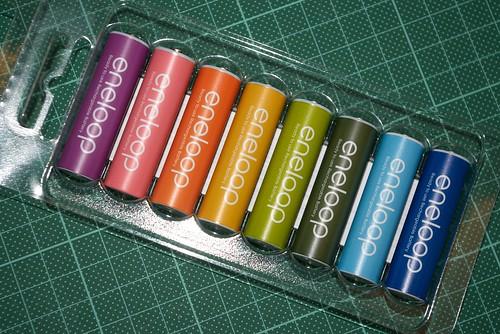 color eneloop battery