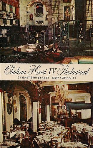 Chateau Henri IV Restaurant, NYC (Postcard)
