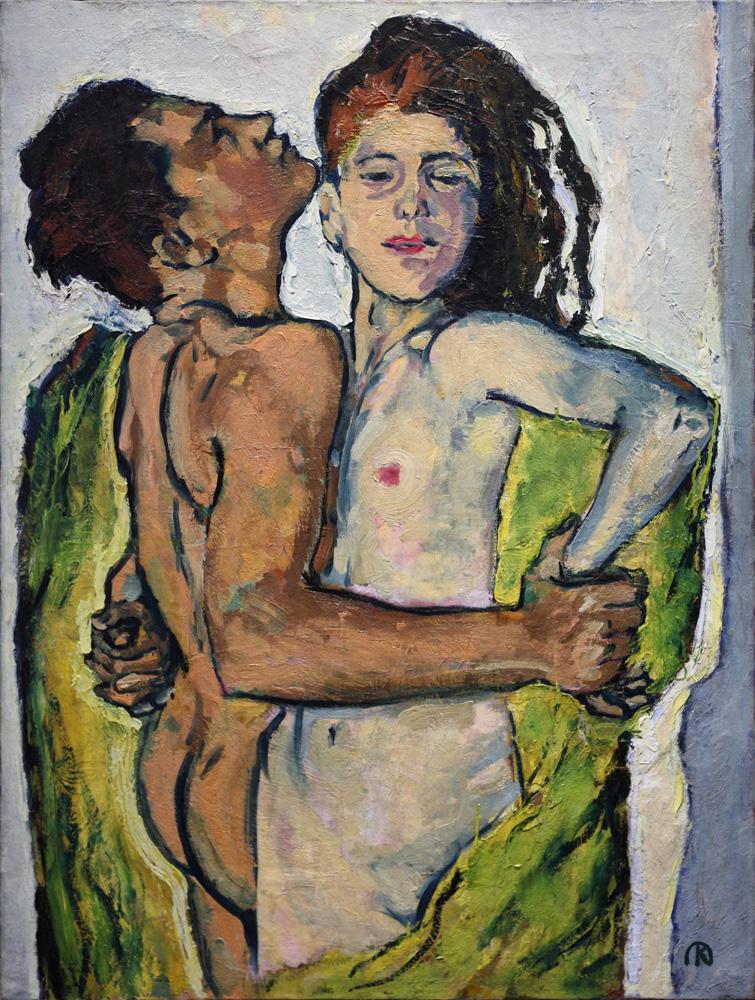 Koloman Moser, Liebespaar [Lovers], c 1913