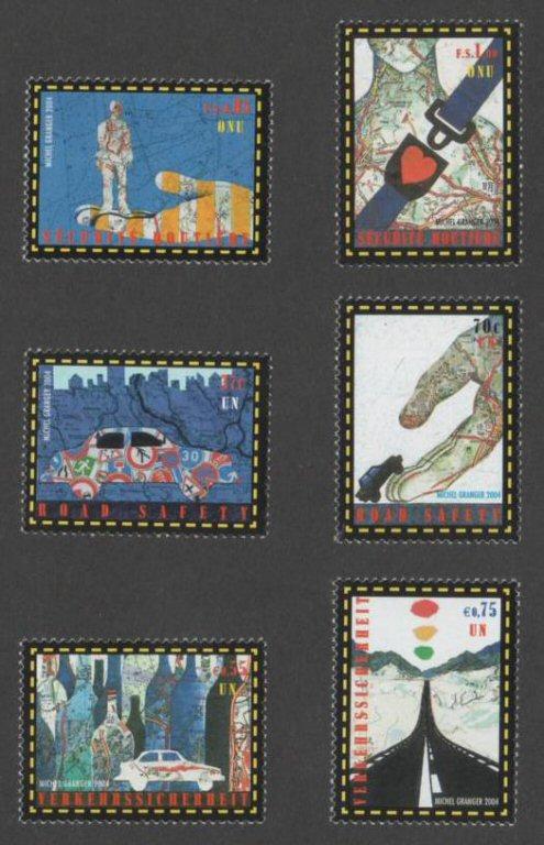 2004 ONU 3 uffici - Sicurezza stradale - serie 2 valori