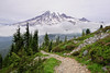 Mt Rainier from the Tatoosh Range (David M Hogan) Tags: mountain washington nikon cloudy trail mtrainier mtrainiernationalpark plummerpeak d5000