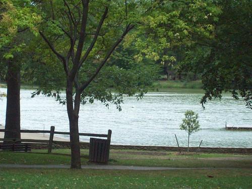 Green Lake: the beach