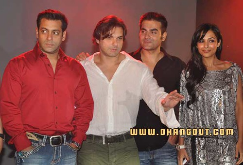 Arbaaz Khan  Salman Khan and Sohail Khan at Fridaymoviez com website launch