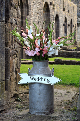 Vintage Milk Churn & Enamel Wedding Sign
